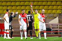 Christophe MANDANNE / Nicolas RAINVILLE  - 14.01.2015 - Monaco / Guingamp - 1/4Finale Coupe de la Ligue<br /> Photo : Jean Christophe Magnenet / Icon Sport