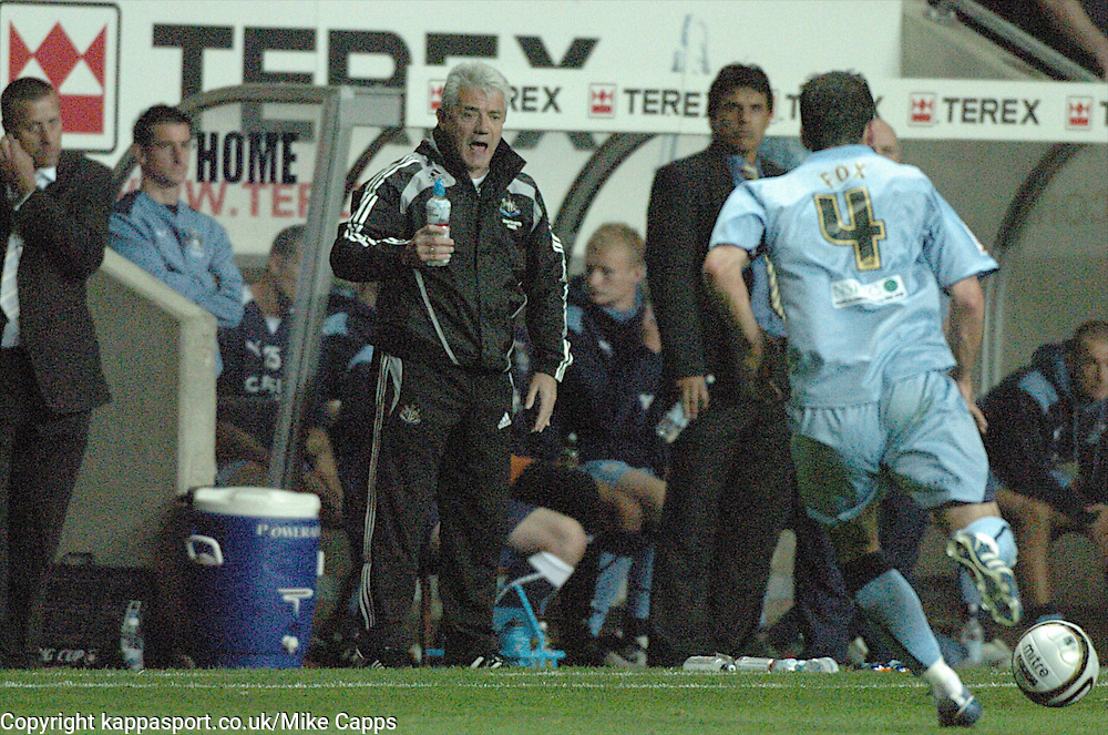 KEVIN KEEGAN, MANAGER NEWCASTLE UNITED, Coventry City - Newcastle United, Utd Carling Cup Ricoh Stadium, Coventry, 26th August 2008 26/8/08