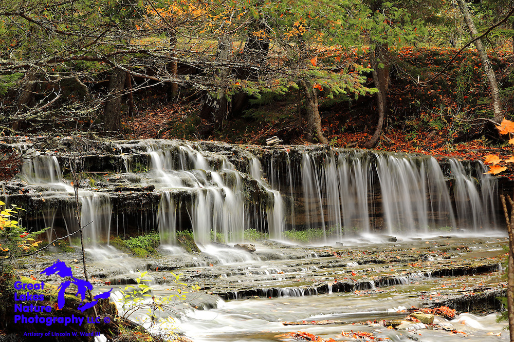 One of the Upper Peninsula's many waterfalls is Lower Au Train Falls, located just north of M-94 on Alger County Road H-03.