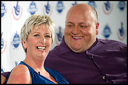 FILE PHOTO..Euromillions winners Gillian & Adrian Bayford from Haverhill, Suffolk, Celebrate  winning their £148,656,000 Win, Tuesday August 14, 2012. Just over a year since their £148m lottery win Gillian and Adrian Bayford have confirmed their marriage is over. The are the second couple reported to have split up since winning the lottery. Photo By i-Images