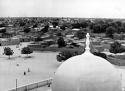 Kano, Nigeria - Looking down from behind the centre dome of the Great Mosque in the city center. (Credit Image: © Keystone Pictures USA/ZUMAPRESS.com)