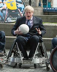 MAY 07 2014 World Wheelchair Rugby Challenge - Boris Johnson