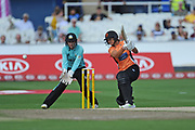 Suzie Bates of Southern Vipers batting during the Women's Cricket Super League match between Southern Vipers and Surrey Stars at the 1st Central County Ground, Hove, United Kingdom on 14 August 2018.