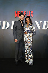 Sydney Premiere of first Aussie Netflix Original, Tidelands at Bennelong Lawn, Royal Botanic Gardens. 10 Dec 2018 Pictured: Mattias Inwood (Corey Welch), Madeleine Madden (Viola Roux). Photo credit: Richard Milnes / MEGA TheMegaAgency.com +1 888 505 6342