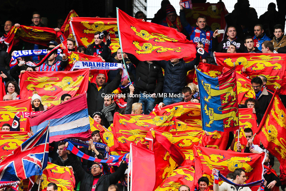 Supporters Caen  - 25.01.2015 - Rennes / Caen  - 22eme journee de Ligue1<br /> Photo : Vincent Michel / Icon Sport *** Local Caption ***
