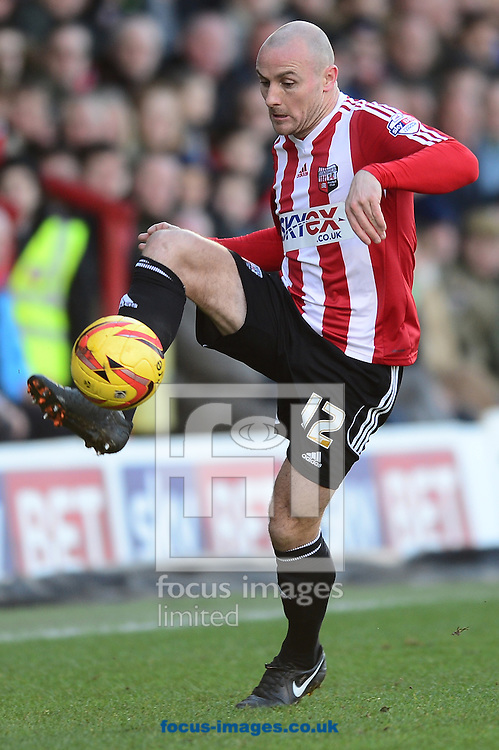 Picture by Alex Broadway/Focus Images Ltd +44 7905 628183<br /> 11/01/2014<br /> Alan McCormack of Brentfordin action during the Sky Bet League 1 match at Griffin Park, London.