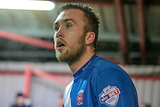 Lewis Hawkins (Hartlepool United) during the Sky Bet League 2 match between Accrington Stanley and Hartlepool United at the Fraser Eagle Stadium, Accrington, England on 19 January 2016. Photo by Mark P Doherty.