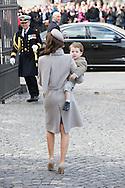 14.04.11. Copenhagen, Denmark.Princess Marie's and Prince Henrik's leaves the Holmens Church after christening ceremony.Photo: Ricardo Ramirez
