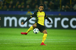 November 21, 2017 - Dortmund, Germany - Pierre-Emerick Aubameyang of Borussia Dortmund.during UEFA Ch scores his sides first goal  ampion  League Group H Borussia Dortmund between Tottenham Hotspur played at Westfalenstadion, Dortmund, Germany 21 Nov 2017  (Credit Image: © Kieran Galvin/NurPhoto via ZUMA Press)