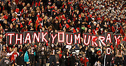 ATHENS, GA - NOVEMBER 23:  Fans hold a sign thanking quarterback Aaron Murray #11 of the Georgia Bulldogs (not pictured) during the game against the Kentucky Wildcats at Sanford Stadium on November 23, 2013 in Athens, Georgia.  (Photo by Mike Zarrilli/Getty Images)
