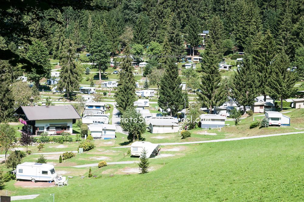 Caravan park near Itter, Tirol, Austria