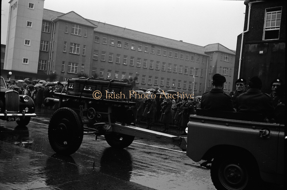 The State Funeral of William. T. Cosgrave, former President of the Executive Council of the Irish Free State, took place at the Church of the Annunciation, Rathfarnham, to Golden Bridge Cemetery.<br /> 18.11.1965