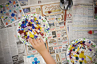 JEROME A. POLLOS/Press..The Summer Arts Program for Youth offers classes in crafts, magic, music and painting.