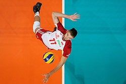 23-09-2019 NED: EC Volleyball 2019 Poland - Germany, Apeldoorn<br /> 1/4 final EC Volleyball Poland win 3-0 / Karol Klos #77 of Poland