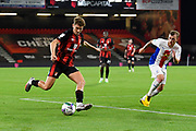 David Brooks (7) of AFC Bournemouth on the attack during the EFL Cup match between Bournemouth and Crystal Palace at the Vitality Stadium, Bournemouth, England on 15 September 2020.