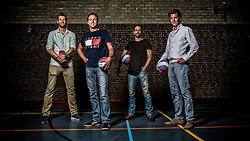 30-05-2016 NED: Training VCV 2 in sporthal West, Veenendaal<br /> Wouter Pilon, Wouter van Ark, Rowan van Vreede en Hugo Rijken