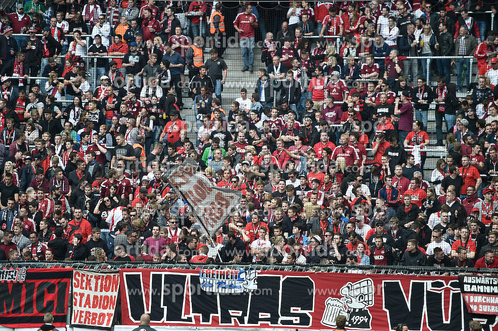 17.05.2015, Allianz Arena, Muenchen, GER, 2. FBL, 1860 Muenchen vs 1. FC Nuernberg, 33. Runde, im Bild Fans des FC Nuernberg, // during the 2nd German Bundesliga 33th round match between 1860 Muenchen and 1. FC Nuernberg at the Allianz Arena in Muenchen, Germany on 2015/05/17. EXPA Pictures &copy; 2015, PhotoCredit: EXPA/ Eibner-Pressefoto/ Buthmann<br /> <br /> *****ATTENTION - OUT of GER*****