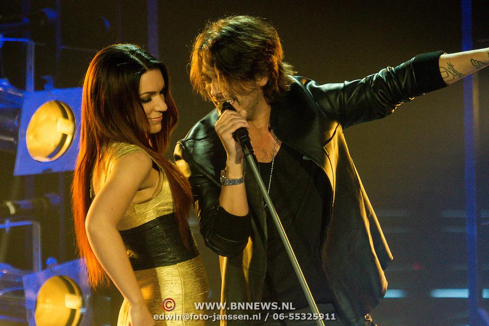 NLD/Hilversum/20131220 - Finale The Voice of Holland 2013, Jill Helena en Waylon