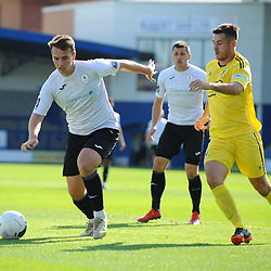 TELFORD COPYRIGHT MIKE SHERIDAN Lewis Reilly of Telford during the National League North fixture between AFC Telford United and Nantwich Town on Saturday, September 21, 2019.<br /> <br /> Picture credit: Mike Sheridan<br /> <br /> MS201920-020