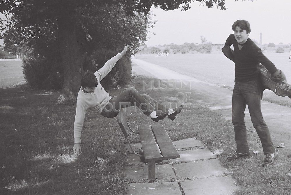 Teenagers in the park, Greenford, London, UK, 1980s.