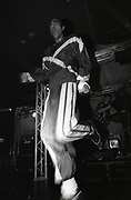 Leeroy Thornhill on stage, Prodigy concert, Manchester, circa 1990