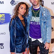 NLD/Amsterdam/20181029 - MTV pre party 2018, DJ Johnny 500 en partner