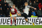 Northampton Town midfielder Nicky Adams crosses the ball during the The FA Cup match between Derby County and Northampton Town at the Pride Park, Derby, England on 4 February 2020.