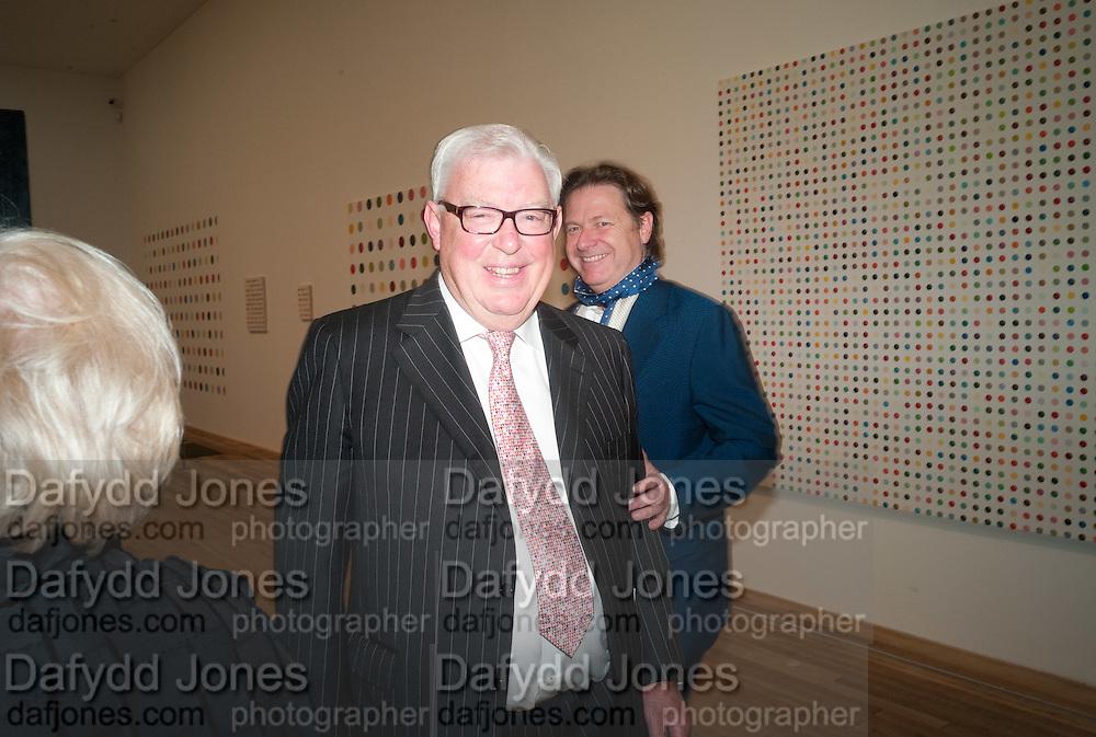 FRANK DUNPHY; DANNY MOYNIHAN, Damien Hirst, Tate Modern: dinner. 2 April 2012.
