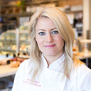 What is more fun than taking head shots and fun pictures in a Boulder bakery.  We did social media pictures in traditional Chef whites and also a more traditional black jacket.   We thought it important to highlight all the pastries in the background, but blurred so that our gorgeous chef takes center stage.
