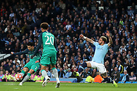 Football - 2018 / 2019 UEFA Champions League - Quarter-Final, Second Leg: Manchester City (0) vs. Tottenham Hotspur (1)<br /> <br /> Son Heung-Min of Tottenham Hotspur scores his sides second goal to make the score 1-2, at The Etihad.<br /> <br /> COLORSPORT/PAUL GREENWOOD