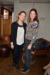 Left to right, VANESSA BARNEBY and BLANCHE VAUGHAN at a ladies lunch hosted by Thomasina Miers was held at her restaurant Wahaca, 19-23 Charlotte Street, London W1 on 10th January 2014.