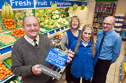 Blakemore Retailer of the year Grimsby Regional Finalist Derek Hallett  of Hallets in Cleethorpes with staff from left to right Carol Parker, Zdenka Siranova and Allen anderson..21 January 2010.Images © Paul David Drabble.