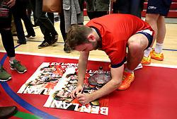 Alex Lane of Bristol Jets signs autographs - Photo mandatory by-line: Robbie Stephenson/JMP - 06/02/2017 - BADMINTON - SGS Wise Arena - Bristol, England - Bristol Jets v Surrey Smashers - AJ Bell National Badminton League