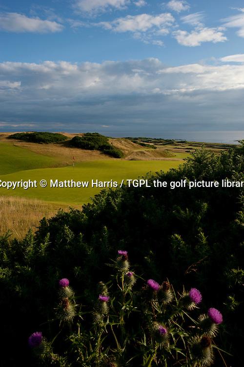 18th par 4 at Kingsbarns Golf Links during summer ,Kingsbarns,Fife,Scotland.