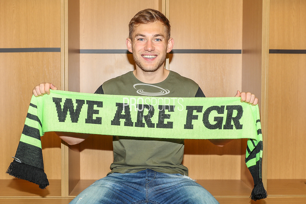 George Williams signing for Forest Green Rovers at the New Lawn, Forest Green, United Kingdom on 12 June 2018. Picture by Shane Healey.