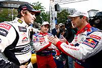 MOTORSPORT - WORLD RALLY CHAMPIONSHIP 2010 - RALLYE DE FRANCE / ALSACE  - STRASBOURG (FRA) - 30/09 TO 03/10/2010 - PHOTO : ALEXANDRE GUILLAUMOT / DPPI - <br /> SOLBERG Petter (NOR) - PETTER SOLBERG WORLD RALLY TEAM - CITROËN C4 WRC - Ambiance Portrait <br /> LOEB Sébastien (FRA) - CITROEN TOTAL WORLD RALLY TEAM - CITROEN C4 WRC