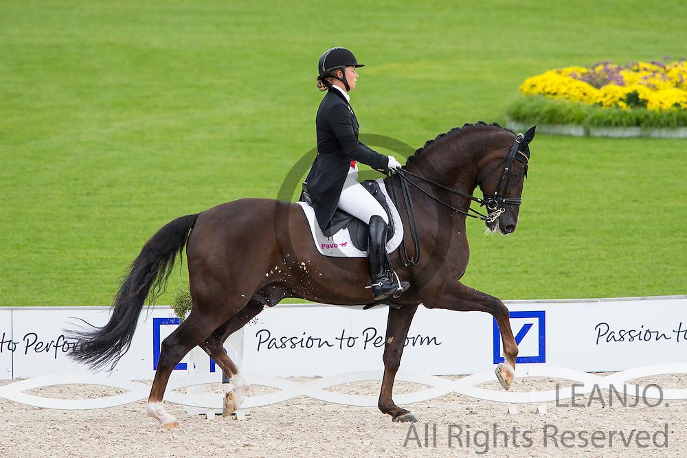 Anna Kasprzak - Donnperignon<br /> FEI European Championships Aachen 2015<br /> &copy; DigiShots