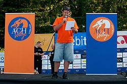 """Predstavitev ekipe ACH Volley v Ljubljani ter akcija """"Skupaj za cista pljuca nasega mesta! Pripravimo Tivoli za Ti-Volley"""", on September 21, 2011, in Hala Tivoli, Ljubljana, Slovenia. (Photo by Matic Klansek Velej / Sportida)"""