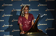Dec 20, 2018; San Antonio, TX, USA; Women's 2011 winner Jessica Beard of Texas A&M poses at the 10th Bowerman Awards at the JW Marriott San Antonio Hill Country Resort & Spa.