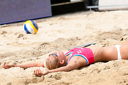 Katarina Fabjan at Beach Volleyball Challenge Ljubljana 2014, on August 1, 2014 in Kongresni trg, Ljubljana, Slovenia. Photo by Matic Klansek Velej / Sportida.com