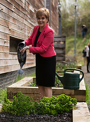 Scottish National Party leader, Nicola Sturgeon, joins Council candidates in Edinburgh to launch the SNP's manifesto for the 2017 Local Government election.<br /> <br /> Pictured: First Minister, Nicola Sturgeon
