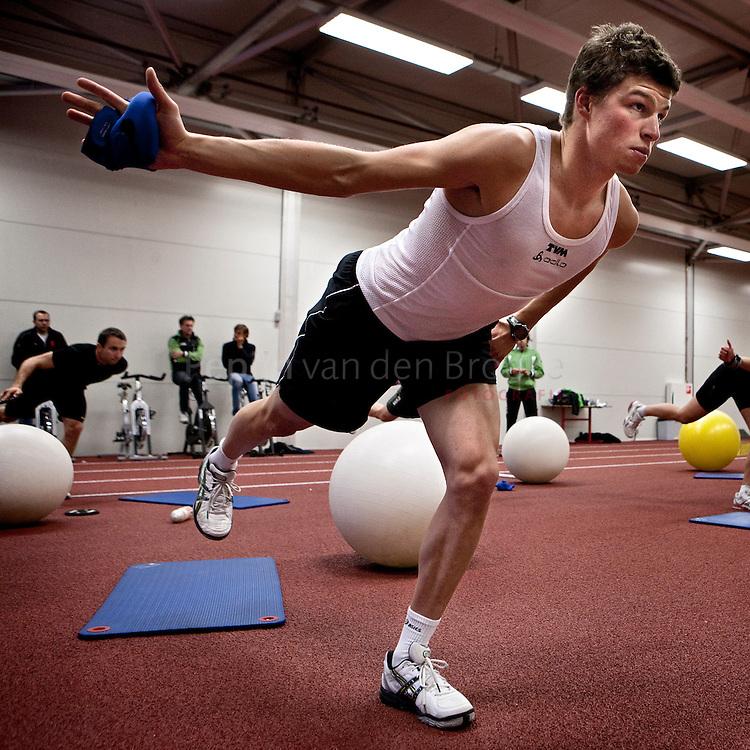 heerenveen 20100930. Training Sven kramer, TVm schaatsploeg. foto: Pepijn van den Broeke