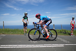 Katie Archibald (GBR) of Team WNT digs deep on the hardest climb of Stage 5 of the Emakumeen Bira - a 95.2 km road race, starting and finishing in Errenteria on May 21, 2017, in Basque Country, Spain. (Photo by Balint Hamvas/Velofocus)