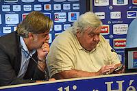 Laurent Nicollin / Louis Nicollin  - 29.06.2015 - Reprise de Montpellier - 2015/2016<br />Photo : Alexandre Dimou / Icon Sport