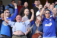 Picture by Richard Calver/Focus Images Ltd +447792 981244<br /> 28/09/2013<br /> Ipswich Town fans celebrate at the end of the Sky Bet Championship match against Ipswich Town and Brighton and Hove Albion at Portman Road, Ipswich.