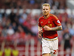 Chris Burke of Nottingham Forest - Mandatory byline: Jack Phillips / JMP - 07966386802 - 11/08/15 - FOOTBALL - The City Ground - Nottingham, Nottinghamshire - Nottingham Forest v Walsall - Football League Cup Round 1