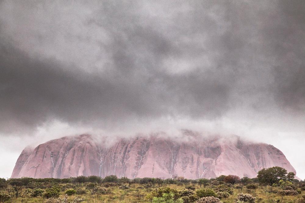 Uluru rain,- In November 2010 Uluru/KataTjuta NP received its anuual rainfall in a 48 hour period.