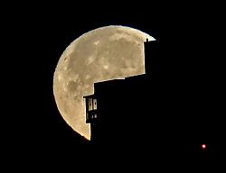 January 21, 2019 - Dalian, Dalian, China - Dalian,CHINA-The super full moon in Dalian, northeast China's Liaoning Province. (Credit Image: © SIPA Asia via ZUMA Wire)