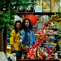 ORLANDO, FL -- January 30, 2008 -- Michael van Gelder, left, and his wife, Angella (cq), of Orlando take in the overflowing aisles of Asian art, furniture, and floral at Dong-A-Imports in the ViMi Vietnamese district in Orlando, Fla., on Friday, January 27, 2006.