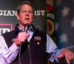 November 03, 2018 - Norcross, Georgia, U.S. - Georgia's Secretary of State and Republican candidate for governor, BRIAN KEMP, campaigns at Mojito's Cuban American Bistro.(Credit Image: © Brian Cahn/ZUMA Wire)